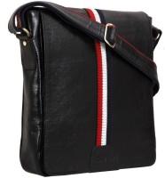 HugMe.fashion Men, Women Tan, Black Leatherette Sling Bag