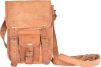 Bonjour Store Women Brown Genuine Leather Sling Bag