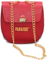Panashe Women Casual Red Genuine Leather Sling Bag