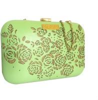 3 MAD CHICKS Girls Green PU Sling Bag