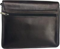 BigZee Men Black Genuine Leather Sling Bag