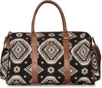 Paprika Women Black, White Leatherette Hand-held Bag