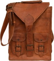 NK Vintage Leather Men, Women Brown Genuine Leather Sling Bag