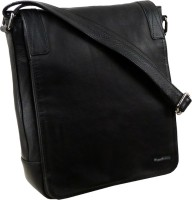LandLeder Boys Black Genuine Leather Sling Bag