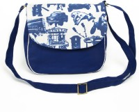 Made In India Indian Street Life Medium Sling Bag Multicolor