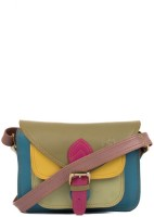 Incredible Range Women Multicolor Genuine Leather Sling Bag