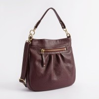 Leahter Women Brown Genuine Leather Hand-held Bag