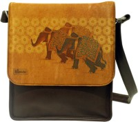 The Ringmaster 3 Elephants Medium Sling Bag Yellow-02