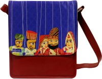 The Ringmaster Band Baaja Baarati Medium Sling Bag Blue-01