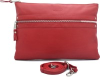 Cecille Women Casual Red Genuine Leather Sling Bag