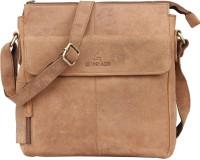 Leaderachi Boys, Girls, Men, Women Casual, Formal, Sports Brown Genuine Leather Sling Bag