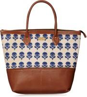 Paprika Women Blue Leatherette Hand-held Bag