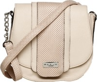 M A R L A LONDON Women Beige PU Sling Bag