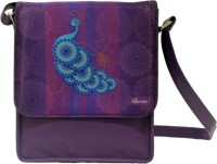 The Ringmaster Abstract Peacock Medium Sling Bag Purple-01