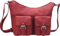 Urban Forest Women Red Genuine Leather Sling Bag