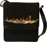 The Ringmaster Mumbai Skyline Medium Sling Bag Black-02