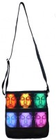 Shor Sharaba 6 Buddha Medium Sling Bag Multi-color