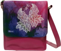 The Ringmaster Peacock Watercolour Medium Sling Bag Pink-01