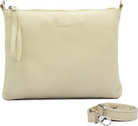 Cecille Women Casual White Genuine Leather Sling Bag