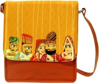 The Ringmaster Band Baaja Baarati Medium Sling Bag Orange-01