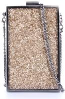 Elizabeth's Tailleur Women Casual Gold PU Sling Bag