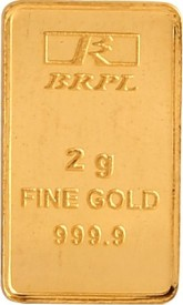Brpl 2 Gram 24kt 999 Purity Bar 24 (999) K 2 g Gold Bar