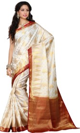 MIMOSA Self Design Kanjivaram Art Silk Saree