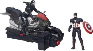 Hasbro Marvel Avengers Age Of Ultron Captain America And Marvel'S War Machine Figures With Blast Cycle Black