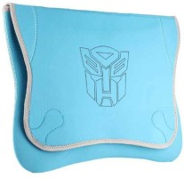 Techbyte Soft Light Blue Colored Sleeve Laptop Bag