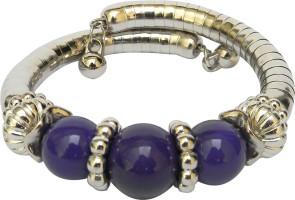 Swaraj Siyona Alloy Black Silver Plated Bracelet