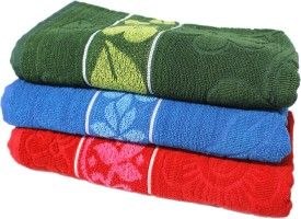 Mandhania Turkey Cotton Bath Towel 3 Bath Towels, Multicolor