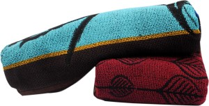 Macrobian Aztec Cotton Bath Towel Set 2 Bath Towel, Multicolor