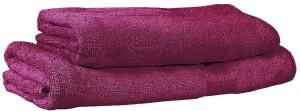 Trident Solid Cotton Bath Towel Set 1 Bath Towel, 1 Lady Bath Towel, Purple