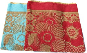 Mandhania Terry Cotton Bath Towel 2 Bath Towels, Multicolor
