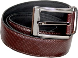 Lee Italian Men Formal Brown Genuine Leather Belt Brown