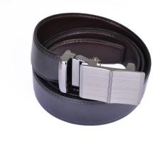 Parrk Men Formal Black Genuine Leather Reversible Belt Black-01