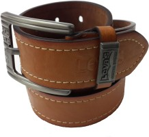 Leva's Men Casual Brown Artificial Leather Belt Brown-007