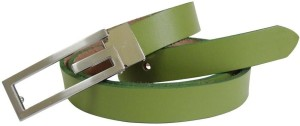 Midas Girls Formal Green Genuine Leather Belt