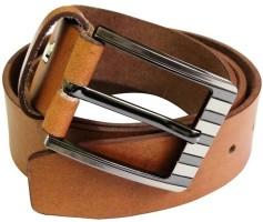 Midas Men Casual Tan Genuine Leather Belt Tan