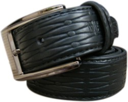Piloda Men Formal Black Artificial Leather Belt Black
