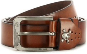 Swiss Design Men Tan Genuine Leather Belt Tan