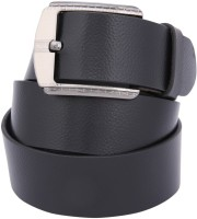 Dharavi Market Men, Boys Casual Black Genuine Leather Belt Black-01