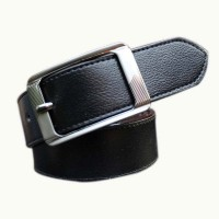 Winsome Deal Men Casual Brown Synthetic Reversible Belt Black