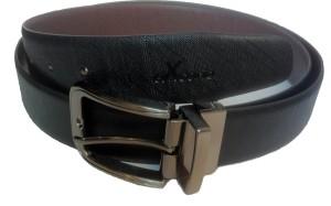 Ex Corio Men Formal Black Genuine Leather Reversible Belt Black, Brown