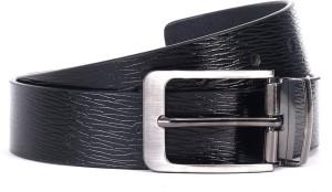WildHorn Men Casual Black Genuine Leather Belt Black