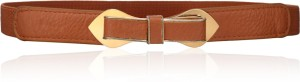 Calvino Girls Casual, Evening/Party Brown Artificial Leather Belt