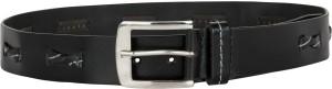 Zovi Men Casual Black Genuine Leather Belt Black