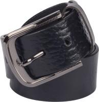 Grasshooper Men Formal Black Genuine Leather Belt Black