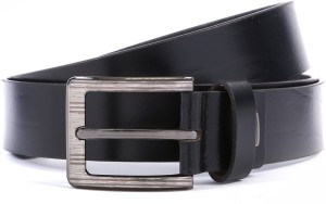 WildHorn Men Formal Black Genuine Leather Belt Black