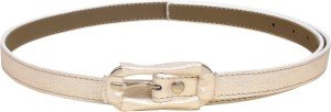 Scarleti Girls Formal White Artificial Leather Belt White
